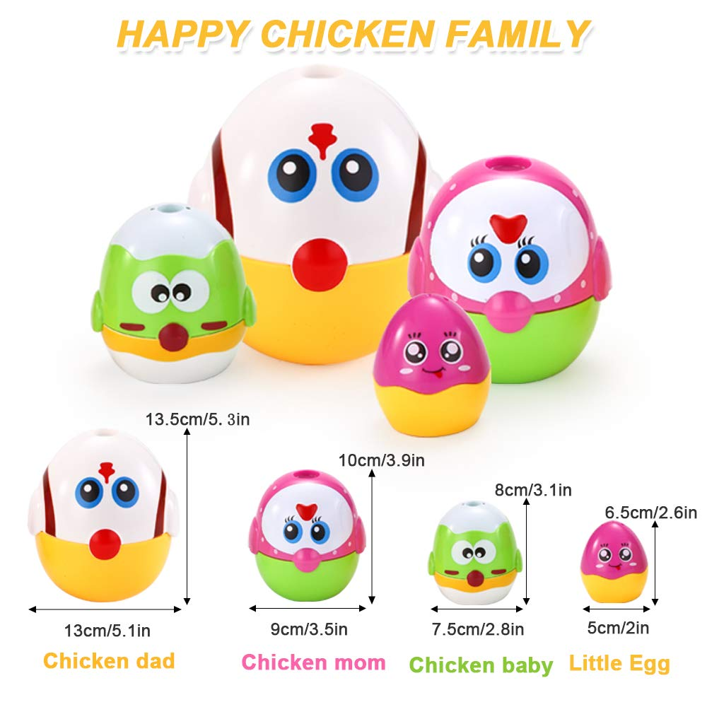 VATOS Nesting Easter Plastic Eggs Toy, Eggs Stacking Toy, Stacker Toys for 18 Months+ Baby Infant Toddler, Educational Toys for 1.5+ Years old Girl and Boys, Cute Chicken Family Style Baby Toddler Toy by VATOS (Image #8)