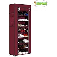 Flipzon Iron and Fabric Multi-Purpose Shoe Rack, 9-10 Shelf/Tier, Organiser (Make in India)