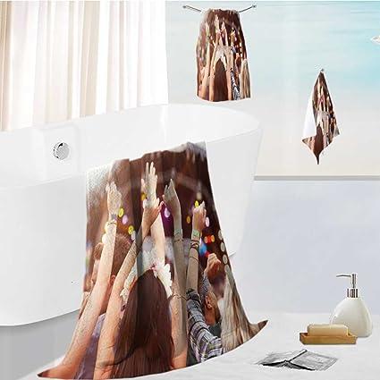 Juego de toallas de lujo de 3 piezas de algodón turco con diseño de astronauta y ...