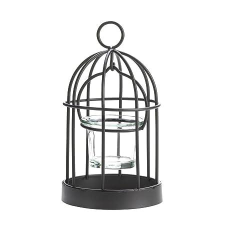 Metal portavelas, Mini decorativa rústico jaula portavelas de ...