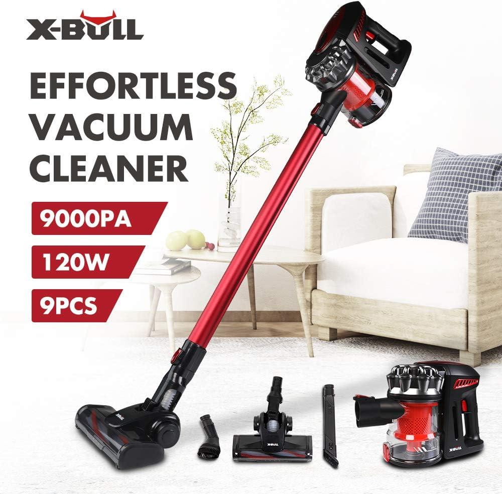 X-BULL 8000pa Aspiradoras Verticales Cordless Cleaner Alta Eficiencia Succión Fuerte: Amazon.es: Hogar