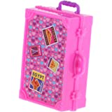 MagiDeal Plastic Mini Suitcase Luggage Box for Barbie Sized Dollhouse Miniature Furniture ACCS Collectibles