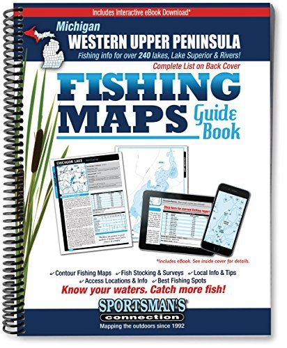 Western Upper Peninsula Michigan Fishing Map Guide by Sportsman's Connection (2007-06-24)