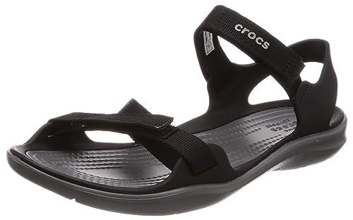 9e858a5b8caa25 crocs Women s Swiftwater Webbing W Fashion Sandals  Buy Online at ...
