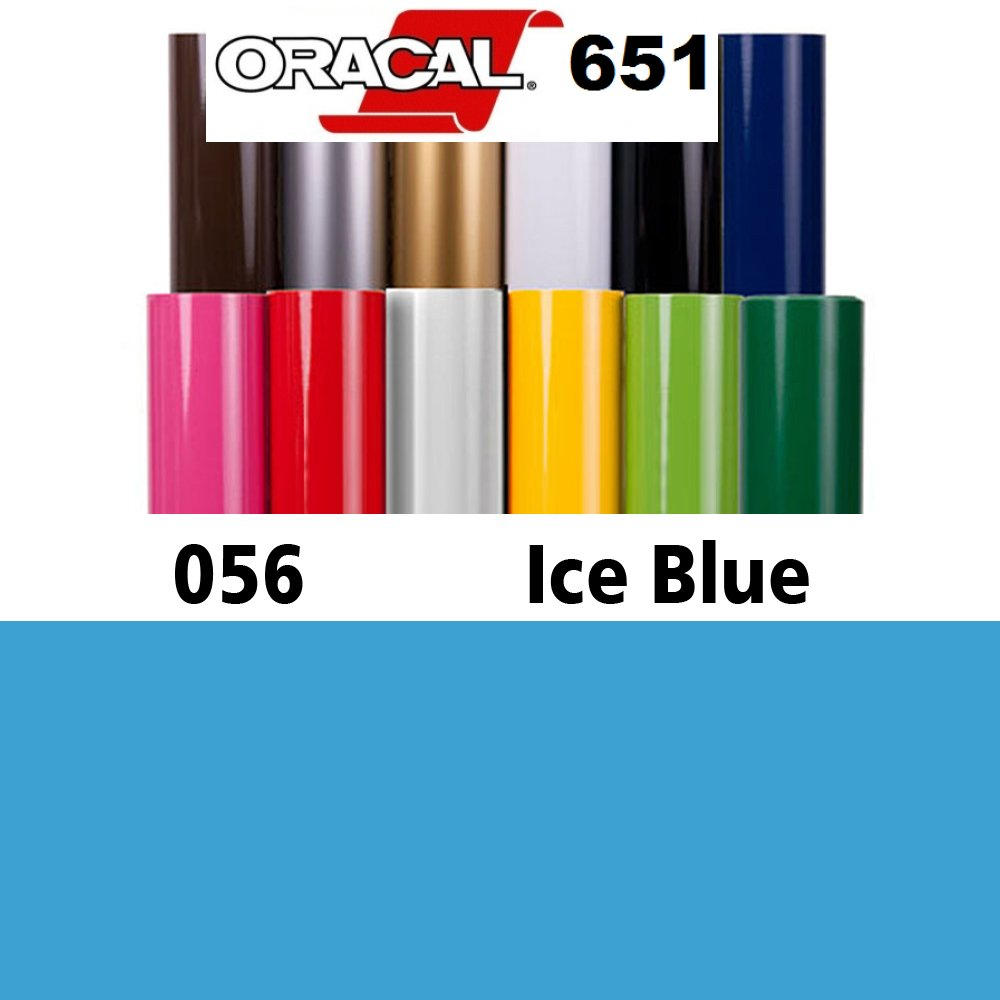 ORACAL 651 Self Adhesive Sign Vinyl 24'' x 10Yd, Banners Decals Stickers - Ice Blue