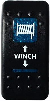 E Support 12v Auto Kfz Licht Blau Led Lichtleiste Beleuchtet Wippenschalter Kippschalter Auto Armaturenbrett Schalter Winch In Out Light 7 Polig Momentschalter Auto