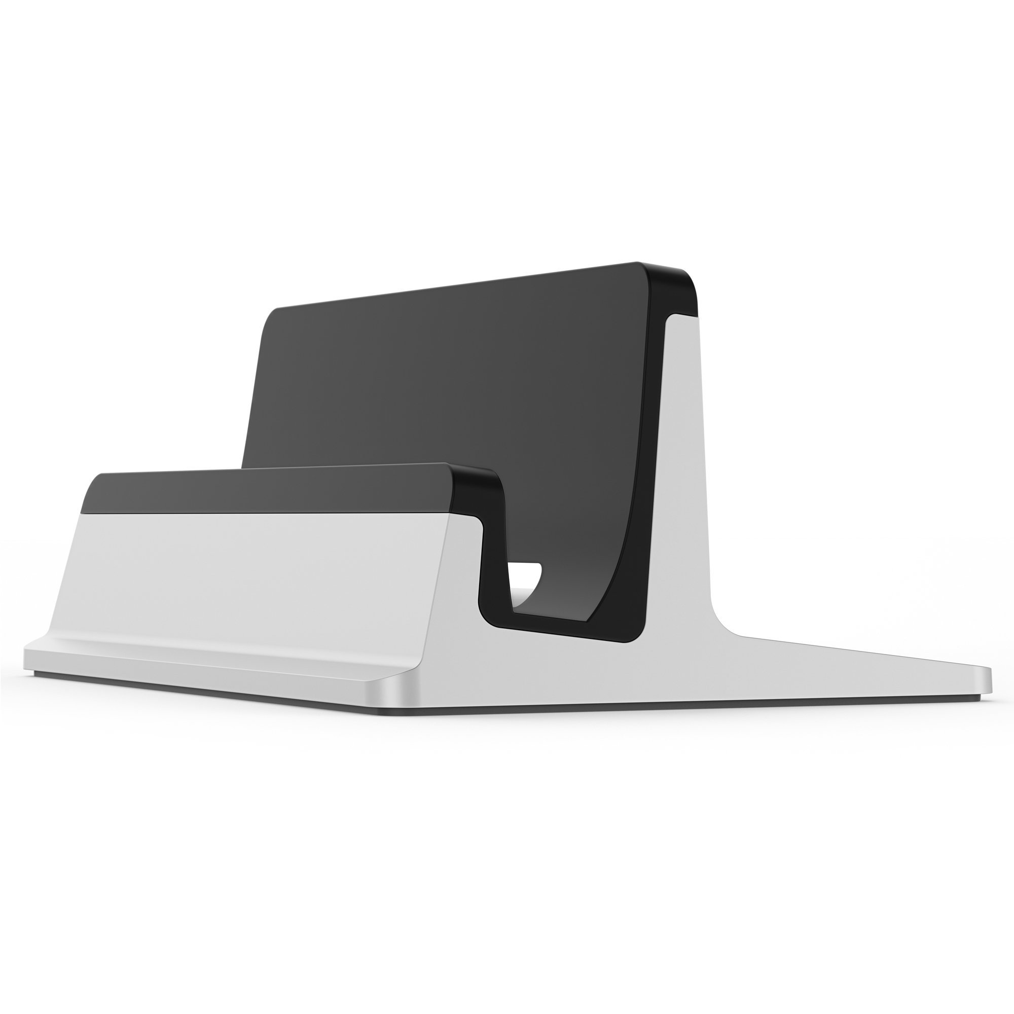 UPPERCASE KRADL Pro Small Profile Aluminum Vertical Stand for Retina MacBook Pro 13'' or 15'' (2012 to 2015 Releases), Silver/Black by UPPERCASE (Image #2)