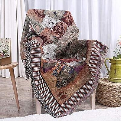 Bixialan Manta de sofá Manta de algodón Tejida Manta Sofá Toalla ...