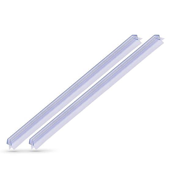 KANWA - 2x 100cm Duschdichtung Transparent für die Duschkabine 6 mm, 7 mm, 8 mm Glasdicke der Duschtür, Duschleiste - Ersatzd