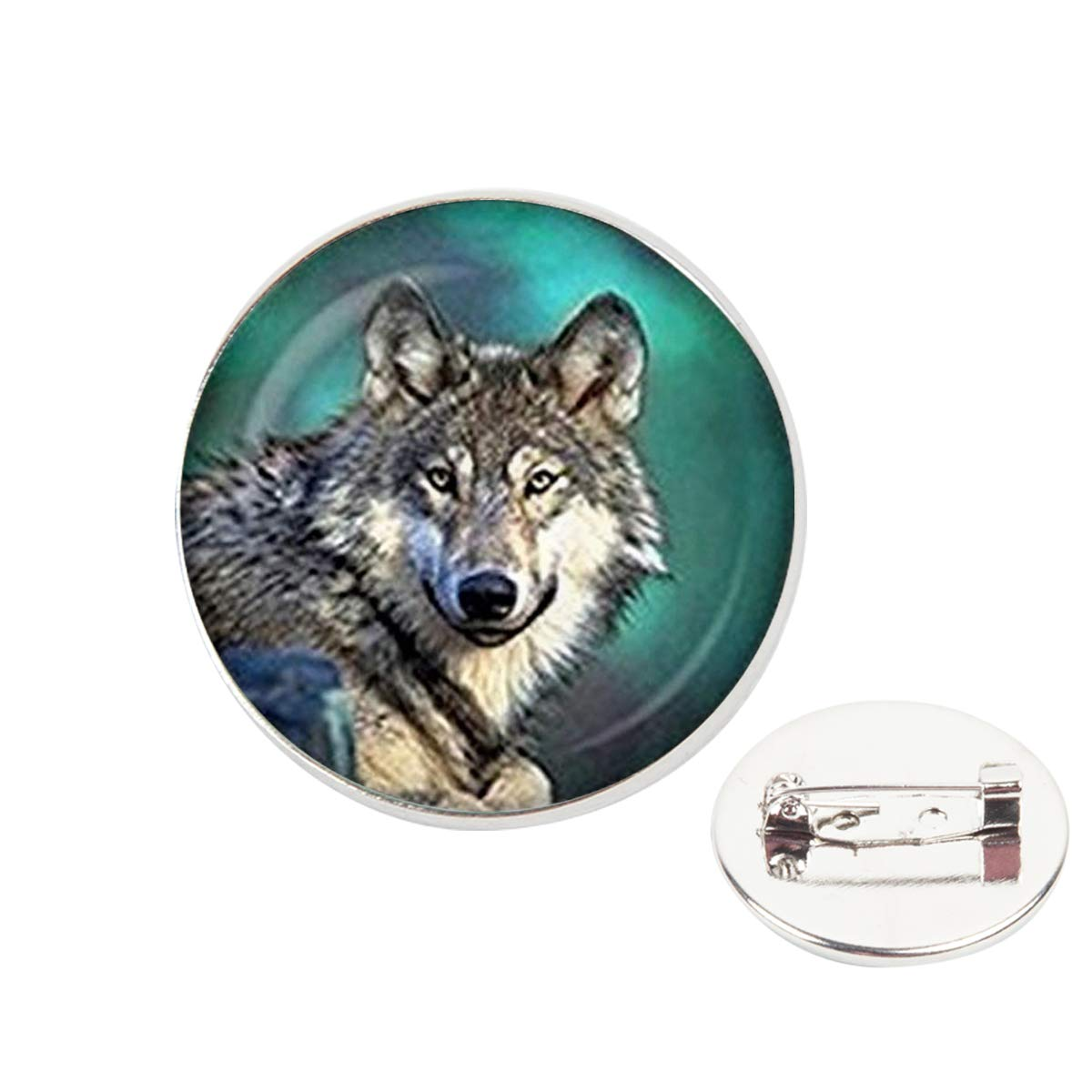 Pinback Buttons Badges Pins Lone Wolf Lapel Pin Brooch Clip Trendy Accessory Jacket T-Shirt Bag Hat Shoe