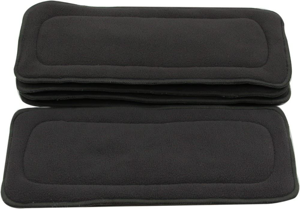 12 Pieces, White Ohbabyka Baby Cloth Soft Charcoal Bamboo Inserts Reusable Liners Diapers