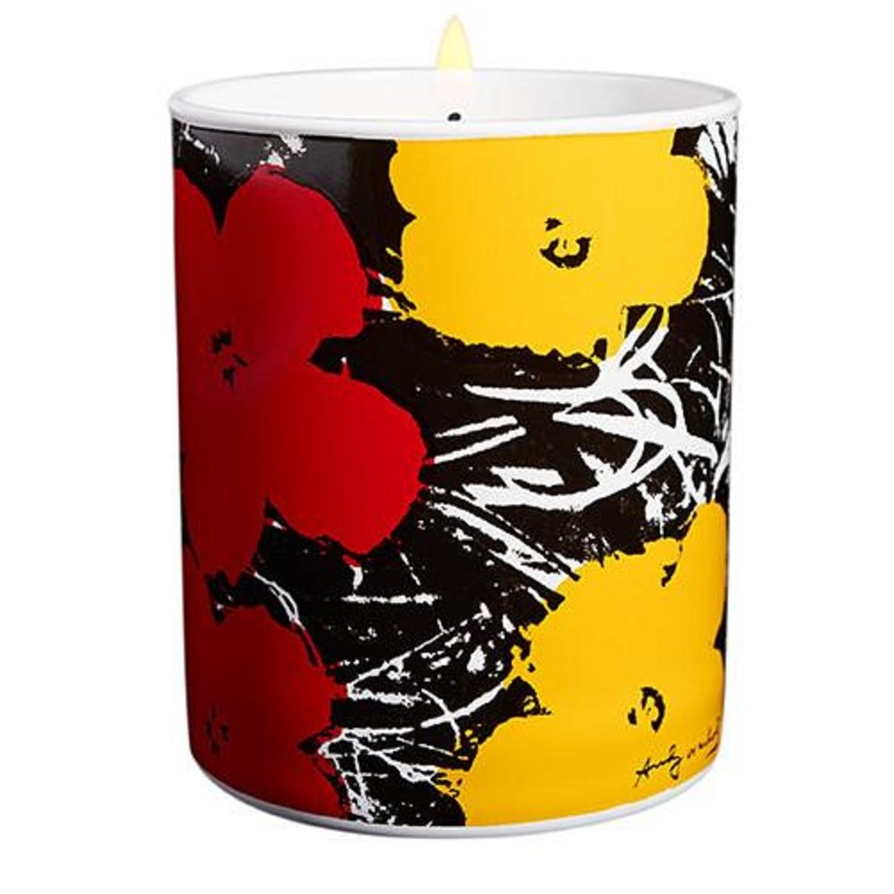 Ligne Blanche Paris Flower Candle by Andy Warhol (Yellow/Red)