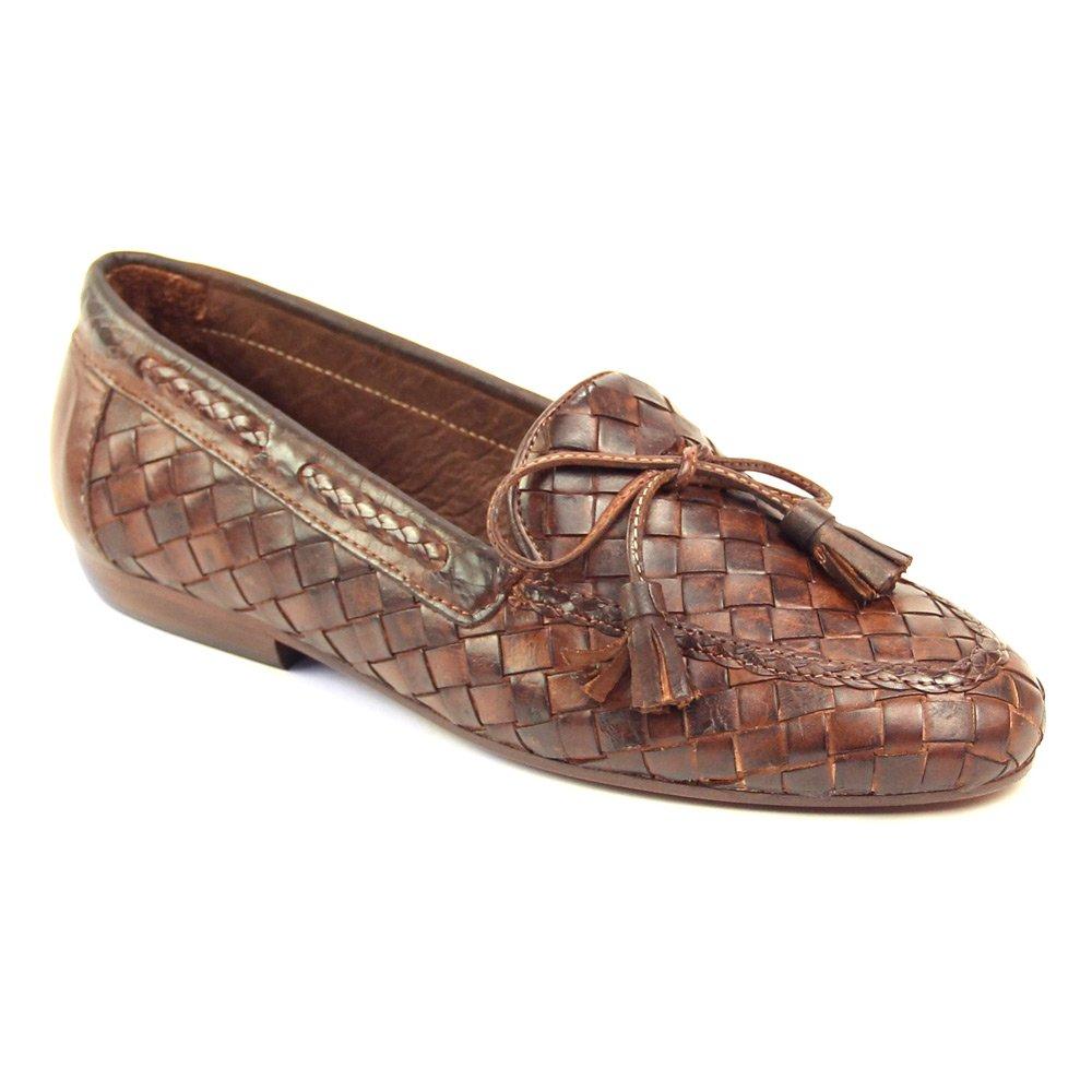 Sesto Meucci Women's Neda Slip-On Loafer B000P4Y214 12 B(M) US|Dk Tan Stained Calf