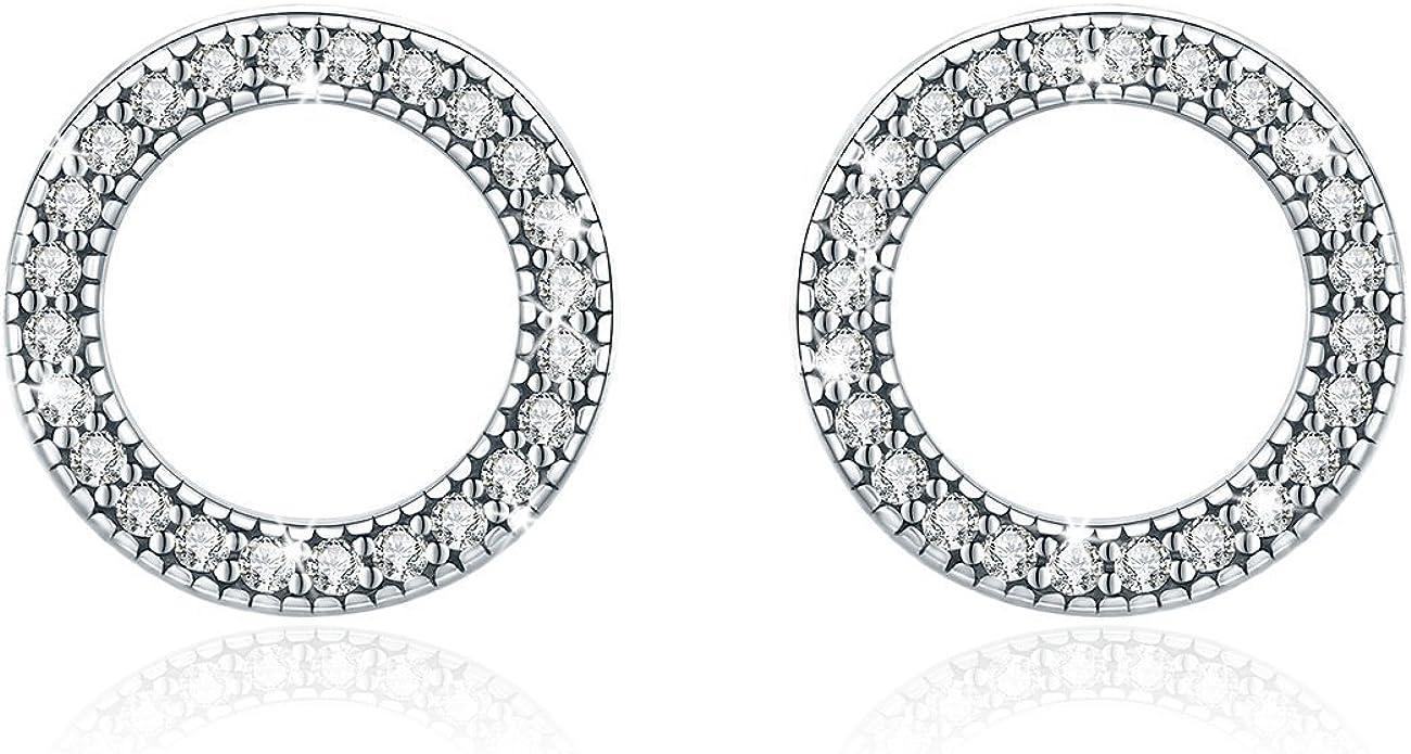 S925 sleek minimalist earrings young lady girl birthday Valentines Day gift