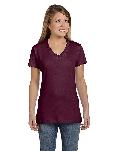 cac6622c99 Hanes Women s Nano-T® V-Neck T-Shirt at Amazon Women s Clothing ...