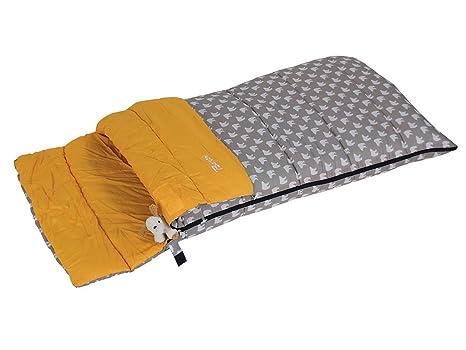 Bertoni Bimbo Junior 150 Bear Saco de Dormir Infantil para Acampada o Casa, Gris/Muñeco, Tamaño Único