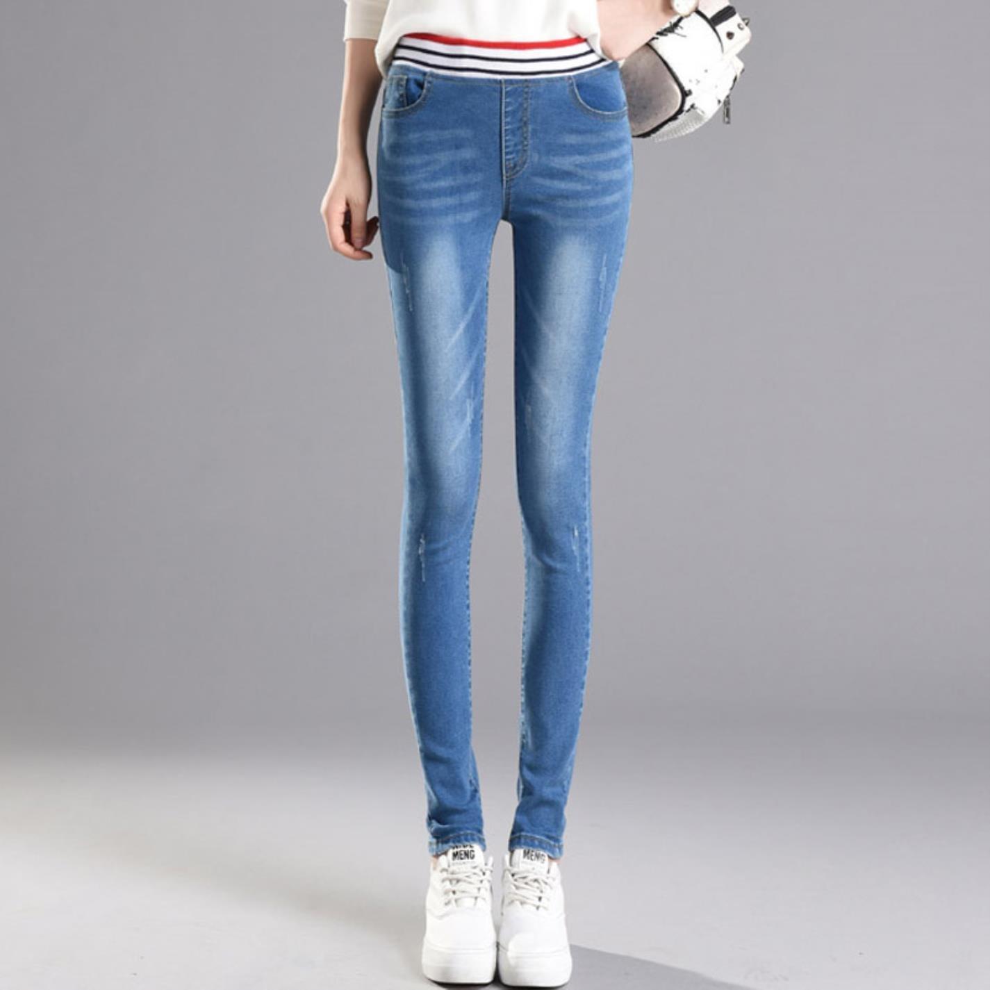 yubanten Woman Vintage Mom Fit Mid Waist Elastic Jeans