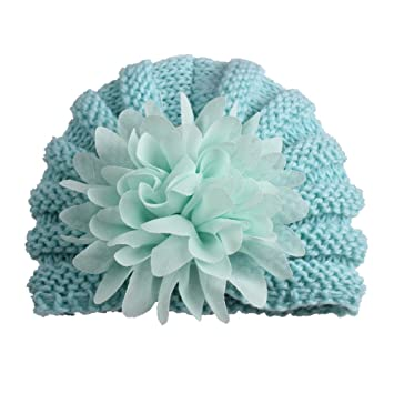 9f8a5510 Amazon.com : Big Flower Decoration Hat Newborn Baby Infant Toddler Hat  Photo Wool Knitted for Boy/Girls by dfnbrhg : Baby
