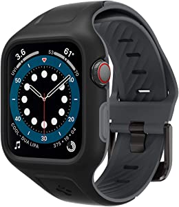 Spigen Liquid Air Pro Designed for Apple Watch Band with Case for 40mm Series 6/SE/5/4 - Black
