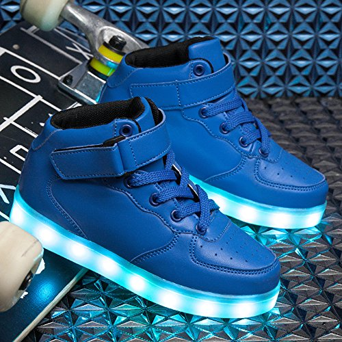 Pictures of VILOCY Kids Boys Girls High Top USB Blue 11 M US Little Kid 3