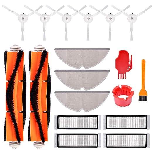 KEEPOW Piezas de aspiradora con cepillo lateral, filtros, cepillo ...