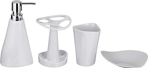 AmazonBasics 4 piezas - Juego de accesorios para cuarto de baño de ...