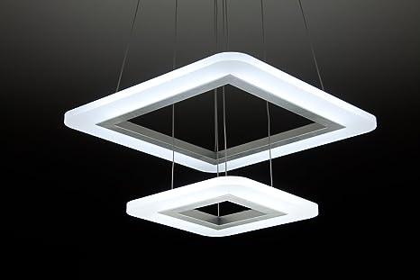 Square t lampadario a sospensione led design salotto moderno
