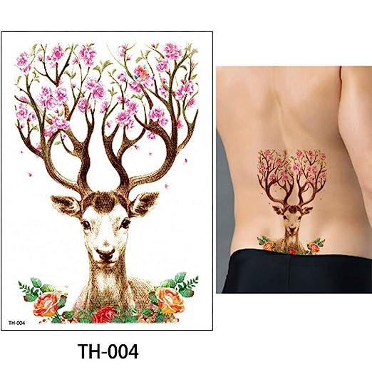 adgkitb 3 Piezas Etiqueta engomada del Tatuaje Animal de Dibujos ...