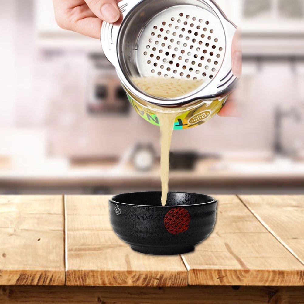 Edelstahl Dose Zinn Sieb Sieb Lebensmittel Colander Flüssigkeit