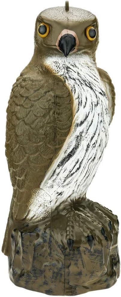 PrimeMatik - Ahuyentador de Aves Tipo Estatua halcón con Ojos Reflectantes 40cm