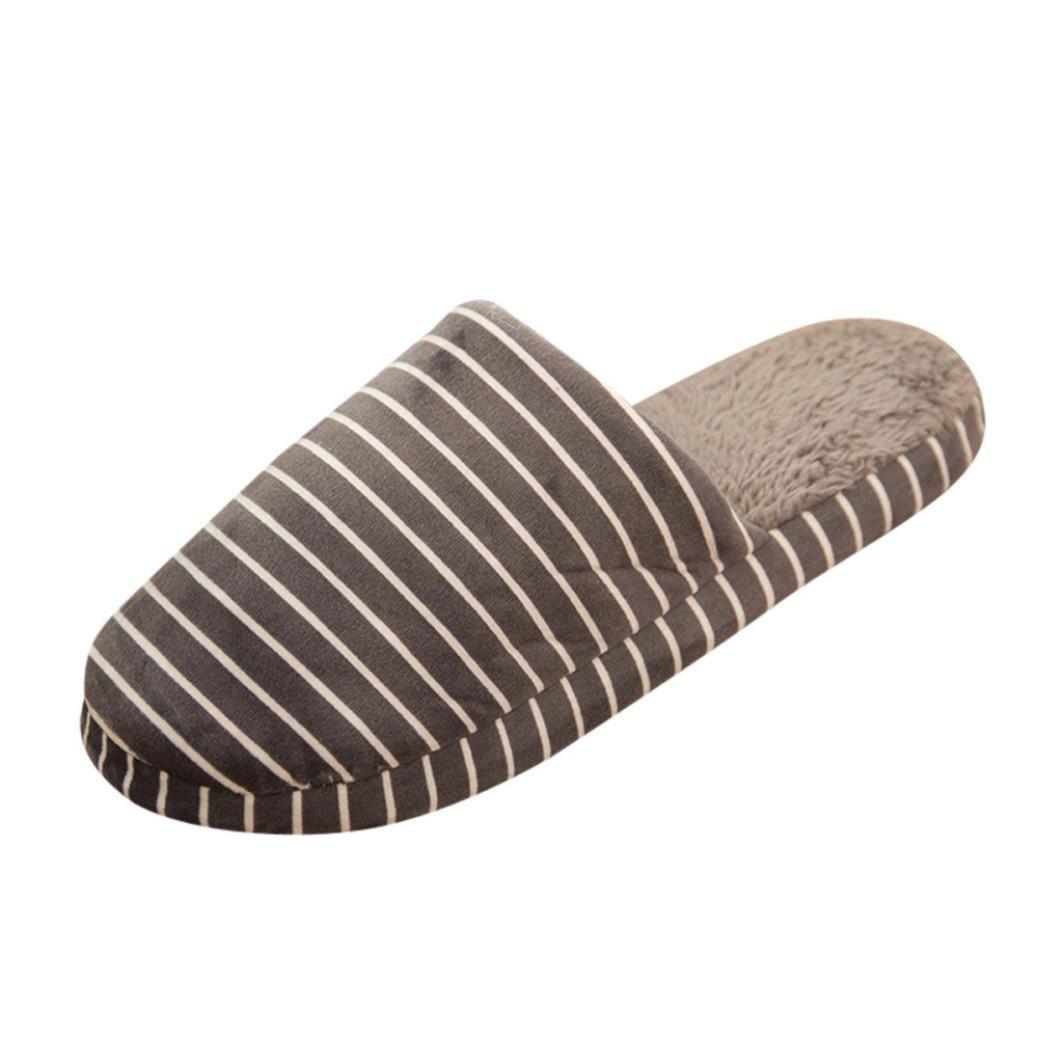 Donne Uomini  Scarpe calde morbide invernali  Pantofole a righe