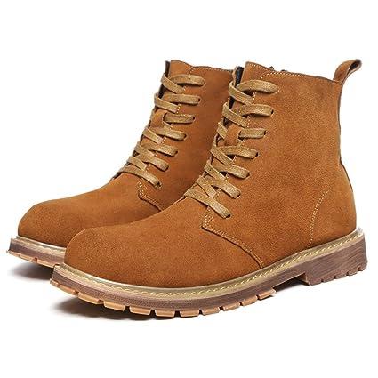 Easy Go Shopping Botines de Moda para Hombre Casual Classic Comfort High Top Martin Boots (
