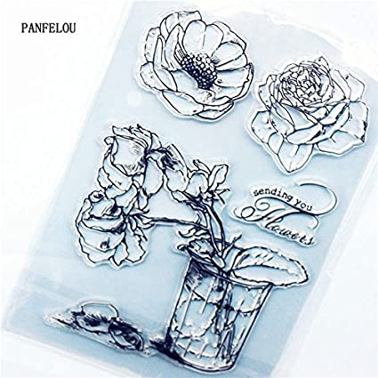 Store Decorative The Vase Of Water Transparent Silicone Rubber