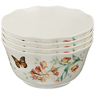 Lenox 856406 Butterfly Meadow Melamine All Purpose Bowls 16 Ounces White