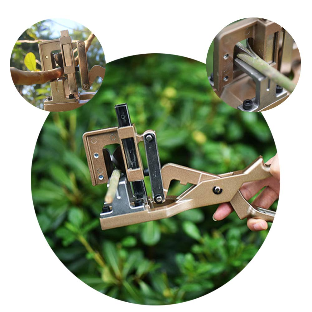 Lianqi Super Convenient & Professional Garden Tools Kit 2 in 1 Multifunction Pruning and Grafting Cutting Tools and Grafting Tape Use For Fruit Tree,Flower Branches,Bonsai