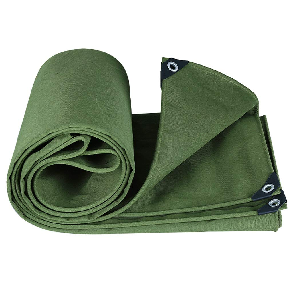 CATRP-Planen Plane Canvas verdicken regenfeste Windschutzscheibe grün (Farbe   Grün, größe   5X6M)