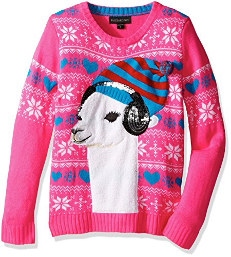 Blizzard Bay Lama Wearing Headphones Sweater