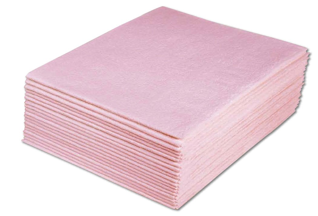 Avalon Papers 234 Drape Sheet, 2-Ply Tissue, 40'' x 48'', Mauve (Pack of 100)