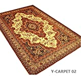 "YOUSA Exotic Carpet Boho Style Living Room Carpet Flora Area Rugs 55""x79"""