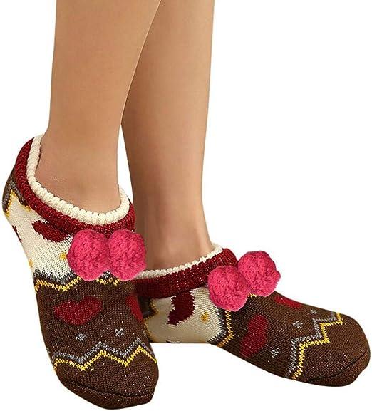 VJGOAL Moda casual para mujer Suave botines del piso Calcetines Calcetines de piso para dormir Engrosamiento antideslizante más terciopelo Mantener cálidos calcetines(Un tamaño, Multicolor1): Amazon.es: Ropa y accesorios