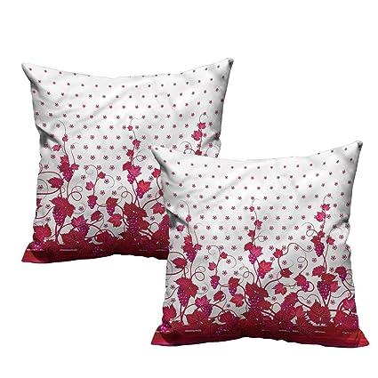 Amazon Com Vineyard Pillowcases French Wine Grape Leaves 24