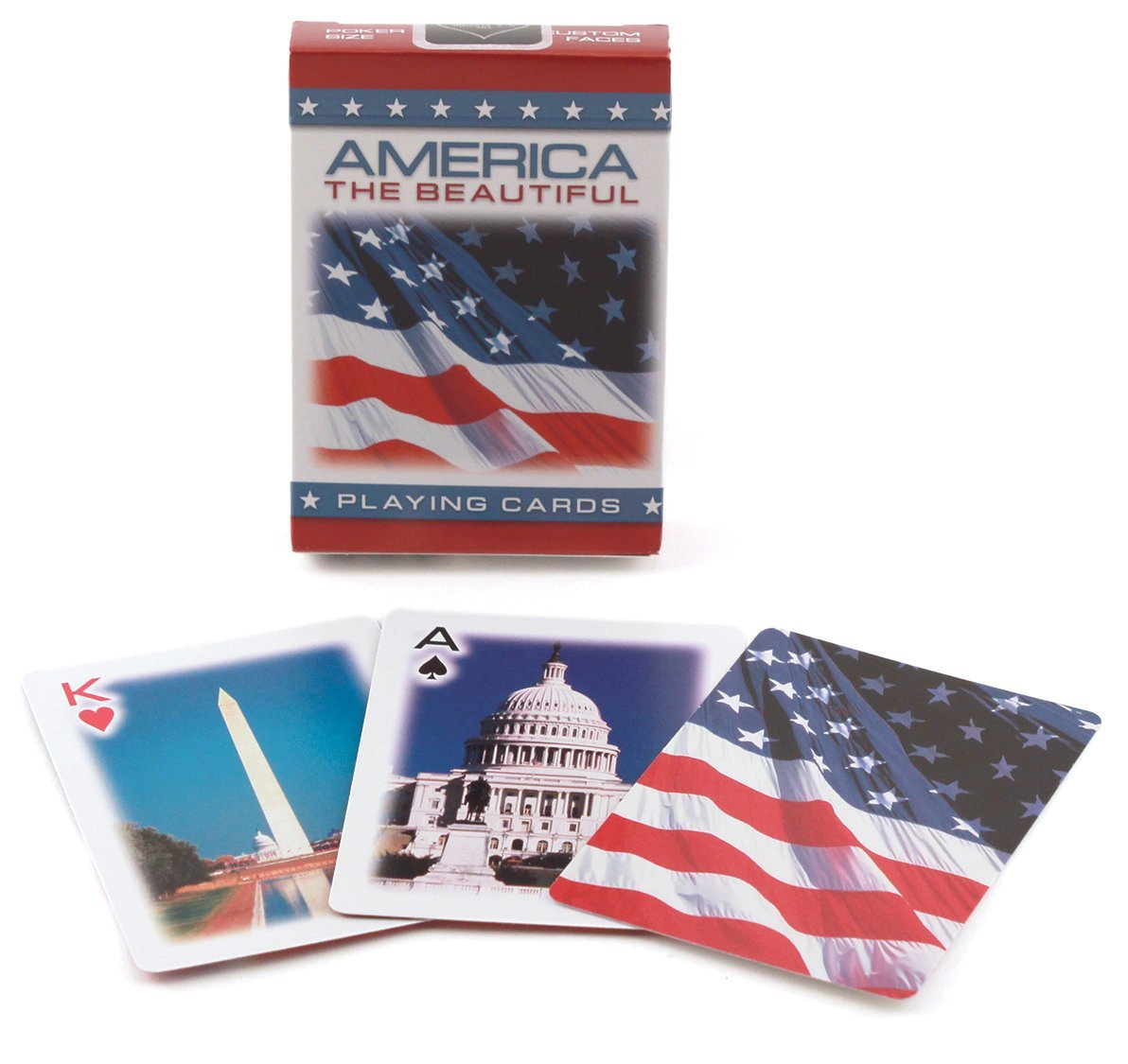 Bicicletta 91 –  185.435, 2 cm America The Beautiful carte da gioco Bicicletta 91-185.435 2cm America The Beautiful carte da gioco Bicycle 1023734