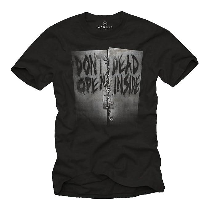 805e8bdfb843 Amazon.com: MAKAYA Don´t Open Dead Inside T-Shirt for Men Black ...