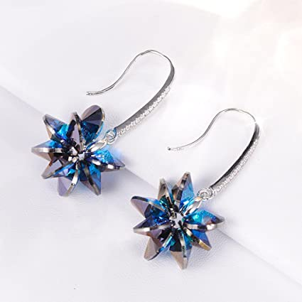 40eb2c8182131 Amazon.com: CJH Crystal Long Earrings Temperament Earrings Women 925 ...