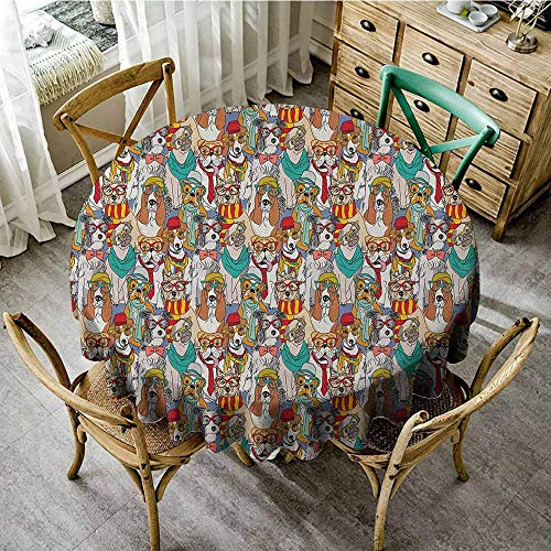 Rank-T Machine Washable Round Tablecloth 40