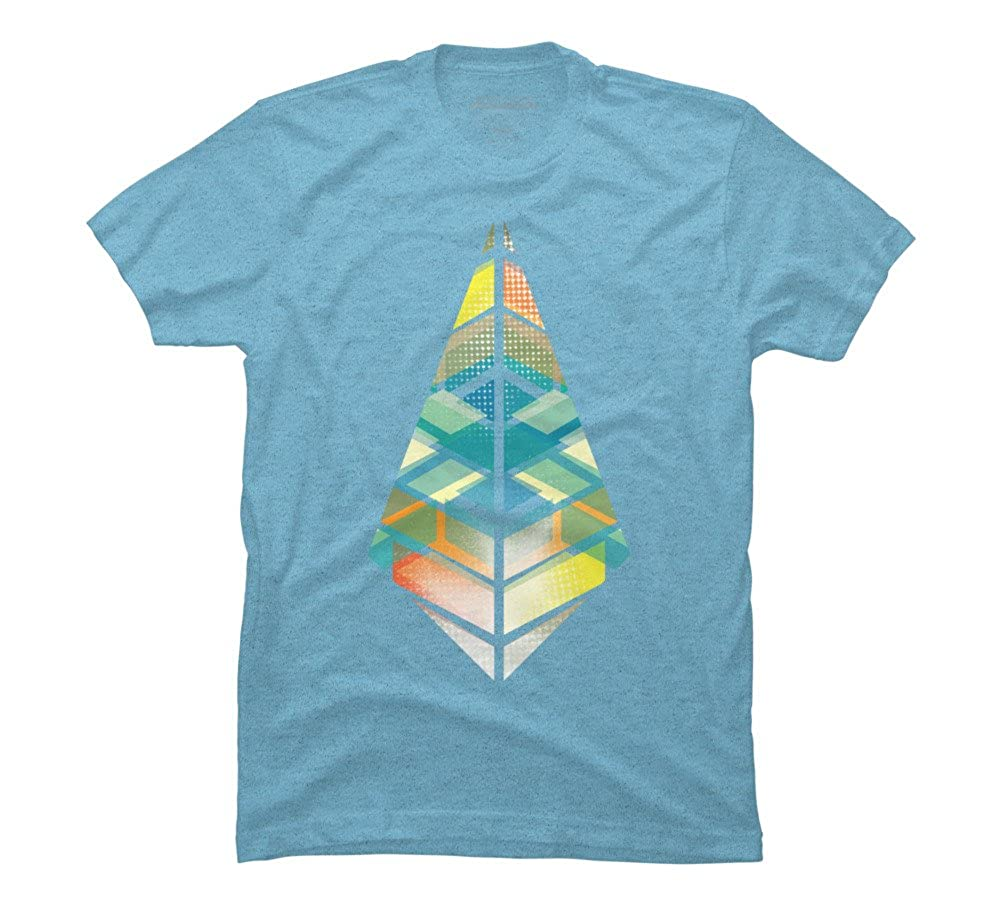 Amazon New Dimension Mens Sky Blue Heather Graphic T Shirt