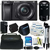 Sony Alpha a6300 Mirrorless Digital Camera with 16-50mm Lens + Sony E-Mount 55-210mm F 4.5-6.3 Lens + Pixi-Basic Accessory Bundle - International Version Benefits Review Image
