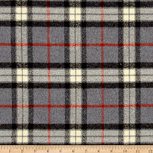 Robert Kaufman Kaufman Mammoth Flannel Large Plaid Grey Fabric By The Yard (5 Shirt Oz Flannel)