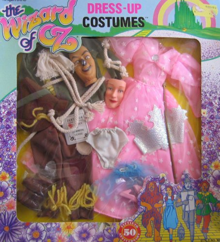 The Wizard of Oz Scarecrow & Good Witch Glinda Dress Up Costume For Barbie & 11.5