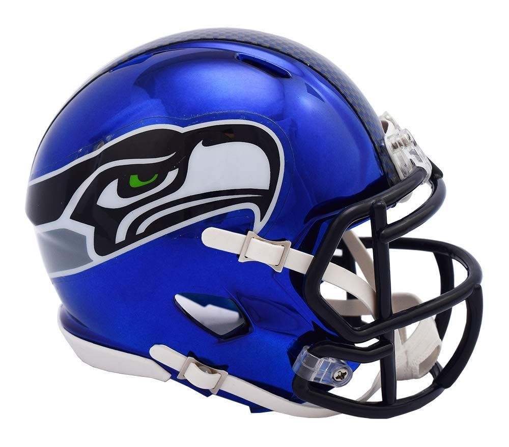Riddell Chrome Seattle Seahawks Speed Mini Football Helmet - 2018 Chrome Alternate